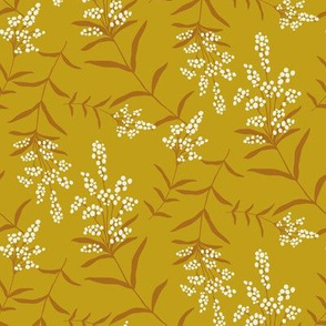 Goldenrod on Yellow Ochre