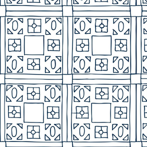 squares hand drawn geometric