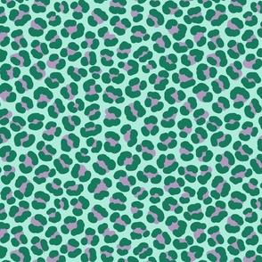 Animal Print Green and Purple