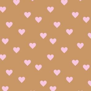 Love lovers minimal hearts basic romantic heart design yellow latte beige