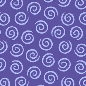 Blue Chalk Spiral Swirl Pattern