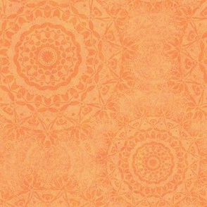 Relaxing Boho Mandalas in Terracotta Peach