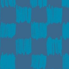 Crayon Grid - Blue