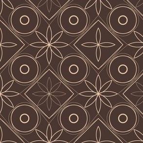 retro squares 'n circles | brown