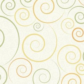 spirals - spiral dance light green