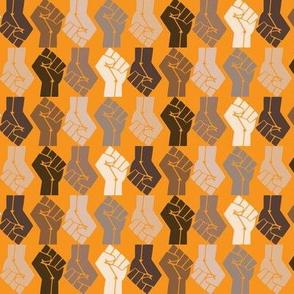 BLM Black Lives Matter on Gold
