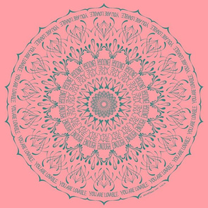 You Are Enough - pink mandala