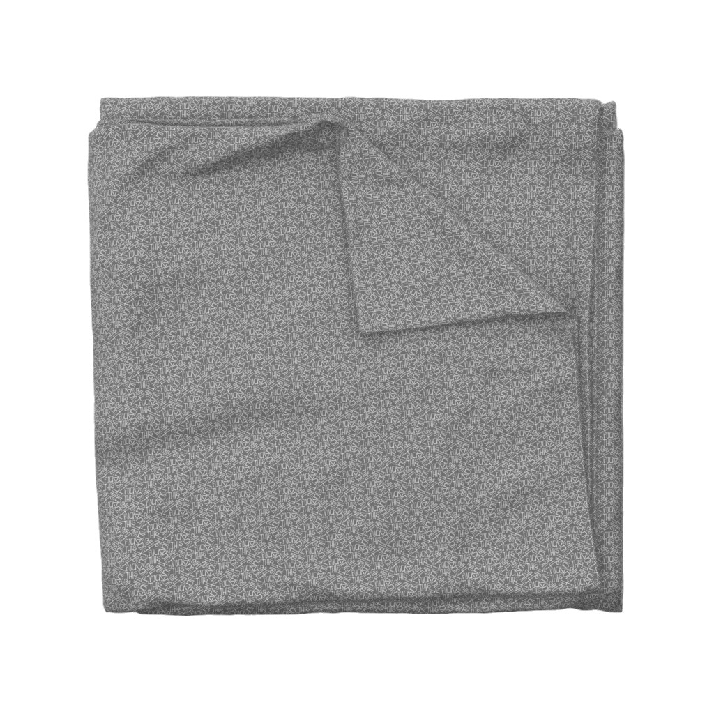 Wyandotte Duvet Cover featuring Fuck This - grey by secretbean