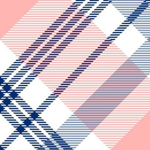 pink and navy, large scale XL