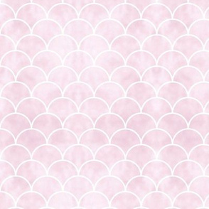 Little Mermaid scales and tie dye background pastel pink