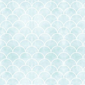 Little Mermaid scales and tie dye background blue mint