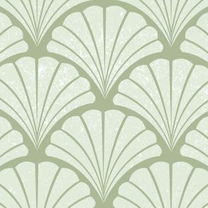 Art deco shells | mint green
