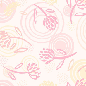 Quiet Space Pink and Yellow
