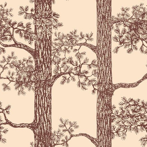 Pine Forest (Beige and Brown) – Large Scale