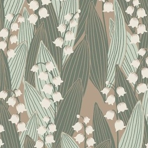 Lily of the valley - neutral vintage