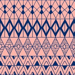 geometric pink navy