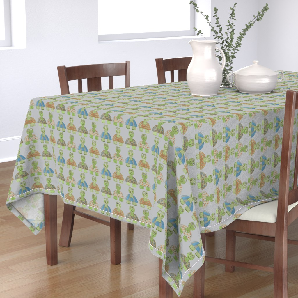 Bantam Rectangular Tablecloth featuring Long Neck Turtles by kbexquisites