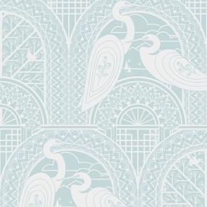 Egrets On The Bridge L