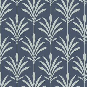 Zen Deco, Tight - Dusty Blue, Dark Blue - Medium