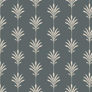 Zen Deco, Sparse - Pale Rose, Slate - Medium