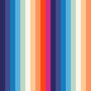 Retro Rainbow stripe L by Pippa Shaw