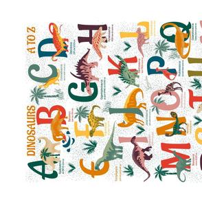 DINOSAURS A TO Z- Alphabet Tea Towel