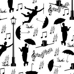singin' in the rain - white