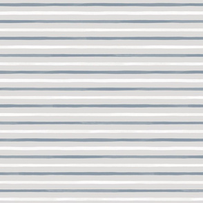 Spaced Fine Watercolor Stripes M+M Cloud Smoke by Friztin