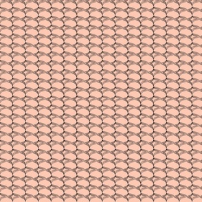 Mid century optical illusion  - blush