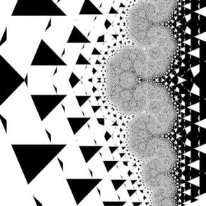 Silver Quartz  Framed by B & W Triangles