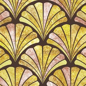 Art deco shells | gold