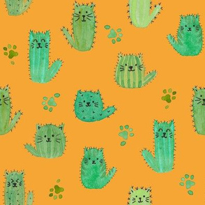 Cat-cus! Cactus cats and paws on ORANGE