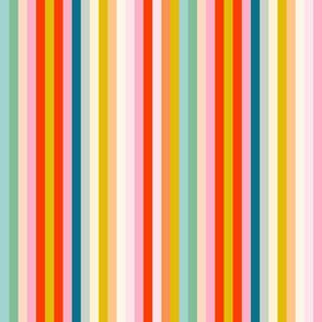 bright multi rainbow stripe M by Pippa Shaw