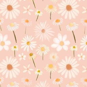 blush daisies on blush