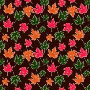 Maple Leaves Black Offset