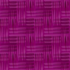 Abstract Weaving Fuchsia
