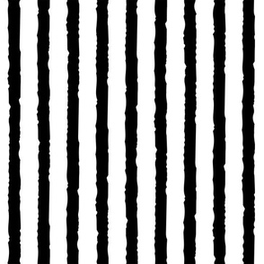 Grungy Stripe - Black + White