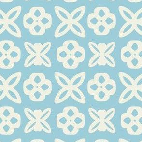 Fresh Blue Geometric Pattern