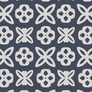 Slate Gray Geometric Pattern