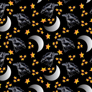 Crows Stars and Moons