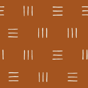 Line Groups Burnt Orange