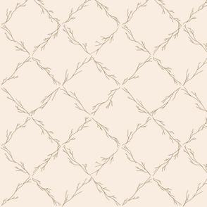 Branch lattice on off white - medium