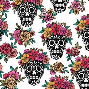 044 sugar skull white