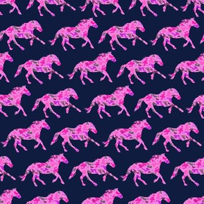 Mustang Horses on Pink camo