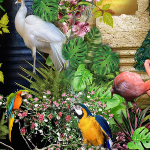 birds of paradise at night wallpaper