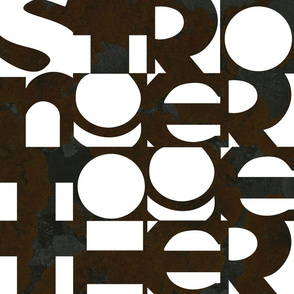 Stronger Together Typography - L