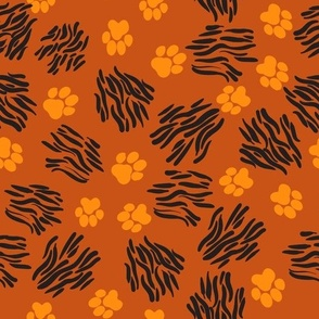 White chamomile flowers on blue background, medicinal plant. Hand drawn.
