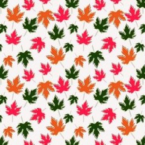 Maple Leaves Offset White