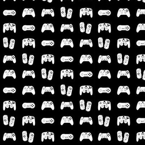 Game Controllers on Black