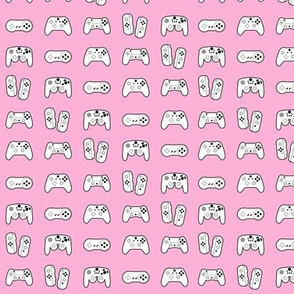Game Controllers on Pink